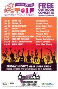 2019 TGIF Concert Series @ Detert Park | Jackson | California | United States