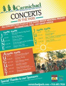 Carmichael Concerts In The Park @ Carmichael Park, Daniel Bishop Pavilion